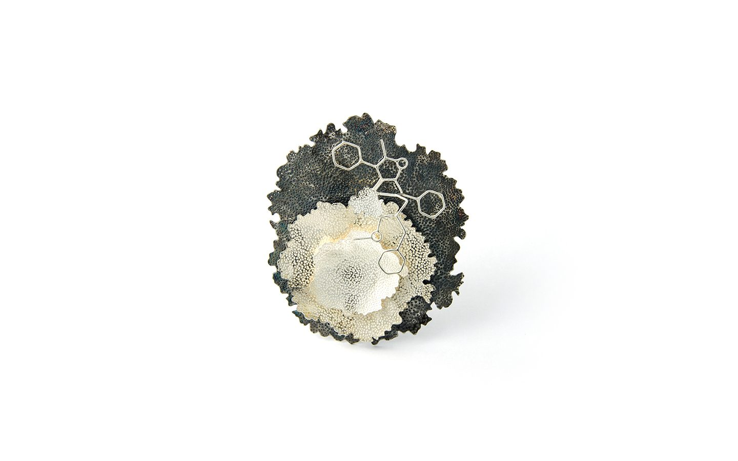 Kate Bajic | Endure brooch, silver, oxidised silver, 2014 | Photo©Kate Bajic