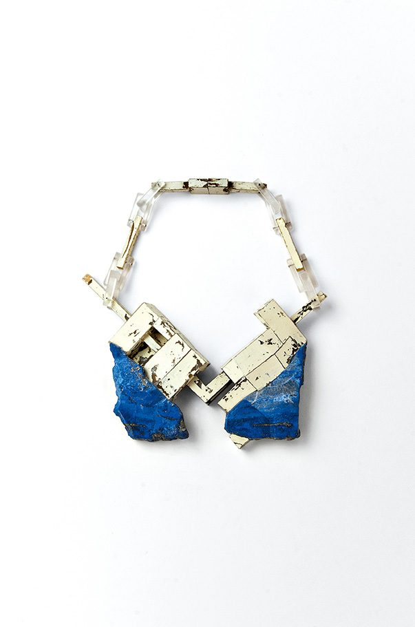 Matthias Dyer | necklace | lapis lazuli, plastic, varnish, silver, steel | 2012 | ©photo by artist